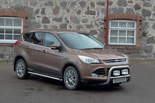 MARCHE-PIEDS, PROTECTIONS LATERALES X2 POUR FORD KUGA 2013- INOX DIA 60mn