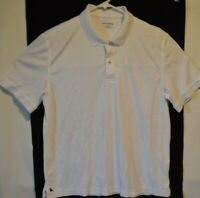 Untuckit Mens Solid White Short sleeve Polo Golf Shirt Size Large
