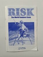 Risk The World Conquest Board Game Instruction Spare Parts Replacement Hasbro