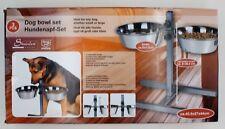 Hundenapf-Set 3-teilig für große und kleine Hunde ca. 40,5 x 27 x 44 cm