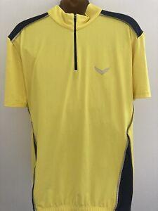Trigema Yellow Cycling Shirt Jersey Size Large