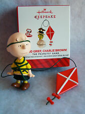 "New HALLMARK Peanuts Gang Good Grief Charlie Brown Flying a Kite 2 1/2"" Ornament"