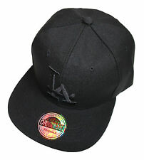 LA Los Angeles Snapback Cap Deep Black schwarz basecap caps