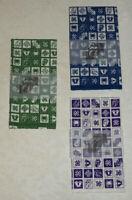 Three (3) Rolling Stones Tenugui Japanese Towels Purple Green Blue Revolution