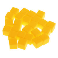 50Pcs Yellow Six Sided D6 Dices Blank Opaque for Party Role Playing D&D Game