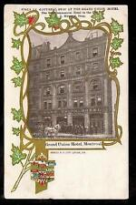 1909 Grand Union Hotel Montreal Quebec Canada postcard