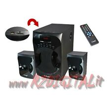 HIFI A3303 SPEAKERS 2.1 TV COFFERS PC HOME THEATER RADIO + USB SUBWOOFER MP4