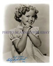 SHIRLEY TEMPLE BLACK SIGNED AUTOGRAPH 8x10 RP PHOTO VERY CUTE YOUNG