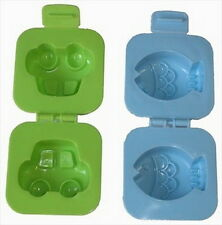 20x Set of 2 Japanese Car & Fish Plastic Egg Mold for Bento Box #1271 S-1975x20