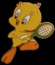 Tweety Bird Pin ~ Tennis ~ Warner Bros. Looney Tunes ~ vintage 80's ~ cloisonne
