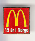 RARE PINS PIN'S .. MC DONALD'S RESTAURANT NORVEGE NORWAY 15 ANS YEARS ~14