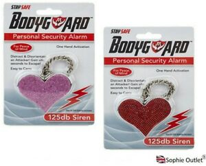 ATTACK ALARM Heart Personal Staff Panic Rape Safety Security Chain Alarm 923104
