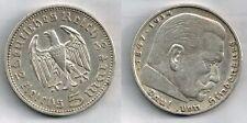 5 Marchi Germania 1936 Hindemburg  argento