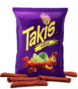 Takis Fuego Hot Chilli Crunchy Crisps Snacks Chips American USA Import 68G Bag