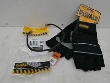 DEWALT FINGERLESS GLOVES DPG213L + REINFORCER CLEAR SAFETY GLASSES DPG58 1D