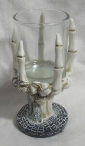 Yankee Candle Halloween Votive Holder V/H SKULL SKELETON HAND new #1687150