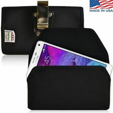 Turtleback Nylon Case Pouch Horizontal Holster Metal Belt Clip for Galaxy Note 4