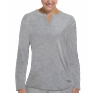Womens Copper Fit Replenish Long Sleeve Recovery Sleep Top Heather Grey L/XL