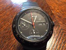 Very Rare I W C Titanium PVD Black Automatic Chronograph Watch