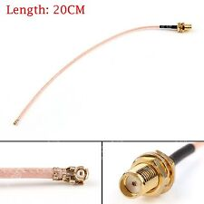 20cm RG178 Kable SMA Female Bulkhead To IPX U.FL Coax Pigtail Adapter 8in