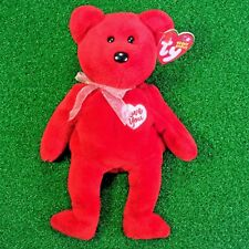 NEW Ty Beanie Baby Secret Lover Bear 2003 Teddy Plush Toy - MWMT - FREE Shipping