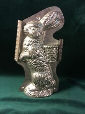 Large Standing Easter Bunny Rabbit with Basket on Back Chocolate Mold Mould