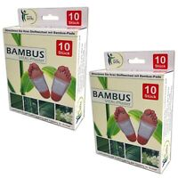 20x Bambus Pads Vitalpflaster Bambuspflaster Fusspflaster Fußpads Fuß foot pads
