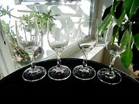 "Set of 4 High Quality Clear Cordial Glasses Glasses 5 3/4"" Tall"