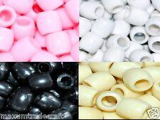 100pcs big cream, white, pink plastic pony beads 11x11.5mm