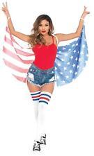 Adulto Stelle e Strisce Bandiera Americana Colori Ali Accessorio Costume UAA2797