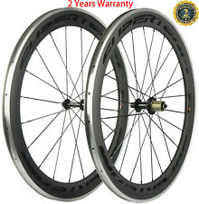 700C Carbon Wheels 60mm Depth Aluminum Brake Surface Carbon Wheelset 23mm Width