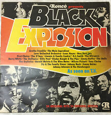 "Various - Ronco Presents Black Explosion 24 Original Hits 12"" LP Vinyl Record"