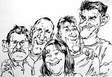 Gruppe Karikatur
