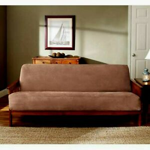 Sure Fit Soft Suede Full Futon Cover  sable