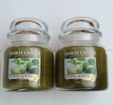 Yankee Candle A Passion For Fragrance-CUBAN MOJITO Medium Jar 411g x2 -Brand New