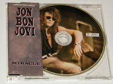 JON BON JOVI Miracle Rare 1990 UK limited edition 3-track PICTURE CD single