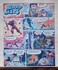 Beyond Mars by Jack Williamson - scarce full tab Sunday comic page Feb. 15, 1953