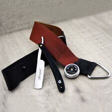 Men's Shaving Gift Kit With Leather Strop, Cut Throat Straight razor & Paste