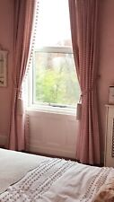 Laura Ashley Pink Gingham Thermal/blackout Curtains L102 Inches W 150 Inches