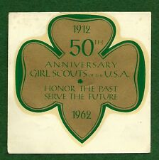 VINTAGE  GIRL SCOUT - 1962 50th ANNIVERSARY DECAL