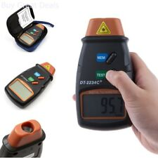 Small Engine Non Contact Hand Held Digital Laser Photo Tachometer Rpm Speed Kit