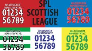 SPL 2008-2010 Build Your Own Football Shirt Nameset Celtic Rangers Hearts