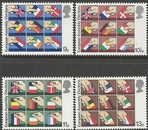 MINT 1979 GB EUROPEAN ASSEMBLY ELECTIONS STAMP SET OF 4 MUH