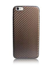 iPhone 6 Plus Slim Fit leather case Brown Carbon Fiber pattern