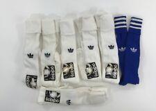 NWT Adidas Original Classic Rare Crew Socks 80s Soccer Vtg 6 pair Sz 10-13 White