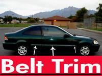For Honda CIVIC Coupe Chrome Body Side Molding Trim Kit 1996 1997 1998 1999 2000