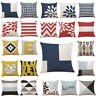Cotton Geometric Pillow Case Waist Throw Cushion Cover Home Sofa Decor Latest