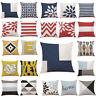 Cotton Geometric Pillow Case Waist Throw Cushion Cover Home Sofa Decor Latest