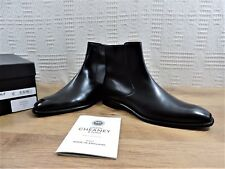 NEW CHURCH'S Cheaney Noir Bottines Chelsea Zip RPP £ 390 Cousu UK 8 F US 9 EU 42 F