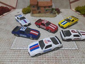 Lot de 5 Pontiac Firebird de courses Corgi